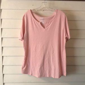 Light Pink short Sleeve Tee 0X (14W)